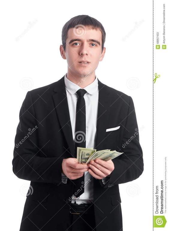 guy suit money